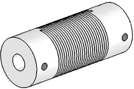 UJ7075-45-8-8 Helical Flexured Stainless Steel U-Joint