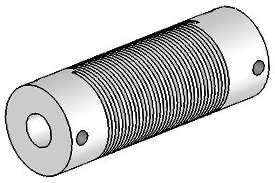 UJ7100-90-8-8 Helical Flexured Stainless Steel U-Joint