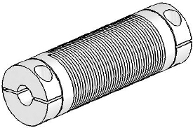 UJ7C075-90-8-8 Helical Flexured Stainless Steel U-Joint