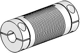 UJ7C100-45-12-12 Helical Flexible Shaft Stainless Steel Coupling U-Joint