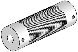 UJA075-90-8-8 Helical Flexured Aluminum U-Joint