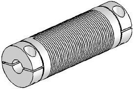 UJAC075-90-8-8 Helical Flexured Aluminum U-Joint