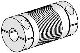 UJAC100-30-8-8 Helical Flexible Shaft Aluminum Coupling U-Joint