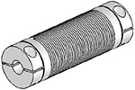 UJAC075-90-6-6 Helical Flexured Aluminum U-Joint