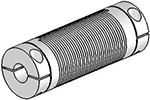 Helical Flexible Shaft Aluminum Coupling U-Joints